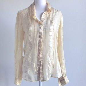 Banana Republic blouse classic sheer style